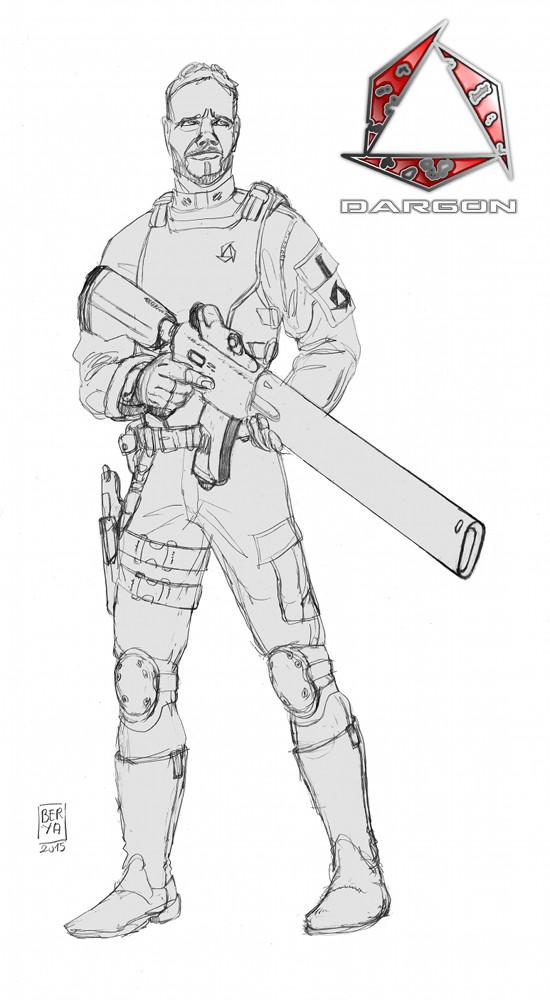 Dargon fusil laser cray  fond gris def bis